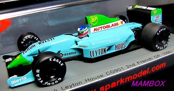 LEYTON HOUSE CG901 n°16 7ème GP France 1990 Ivan Capelli 1//43 Spark S2979