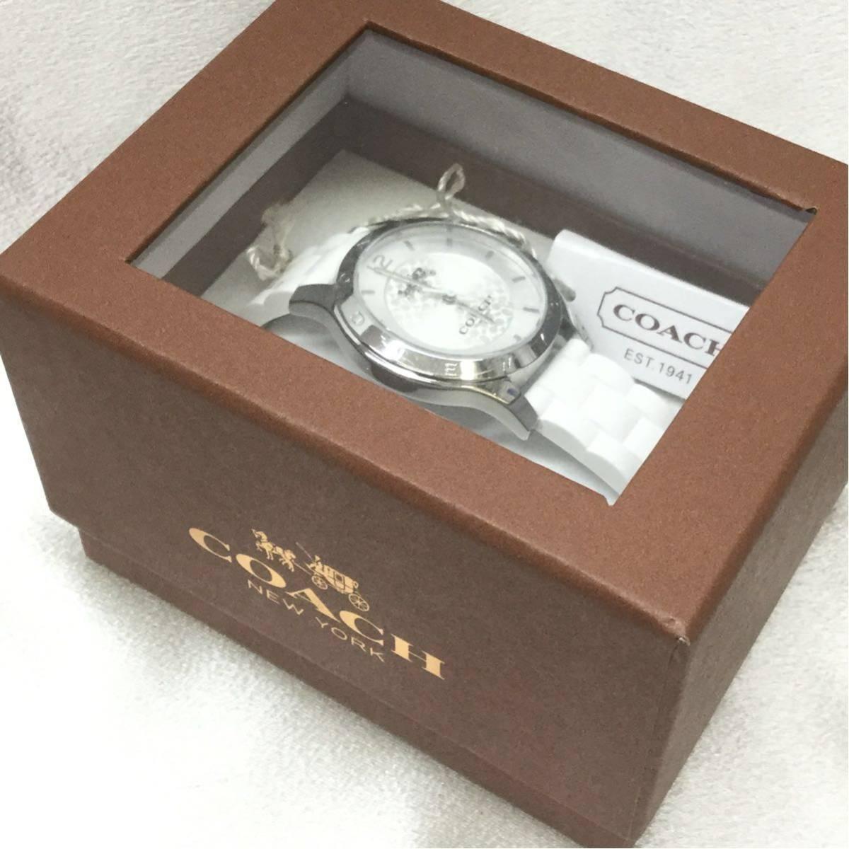 fd816bad62f8 COACH コーチ 腕時計 クォーツ シグネチャー 14502525 MADDY マディ レディース ウォッチ シルバー ホワイト 美品 正規品