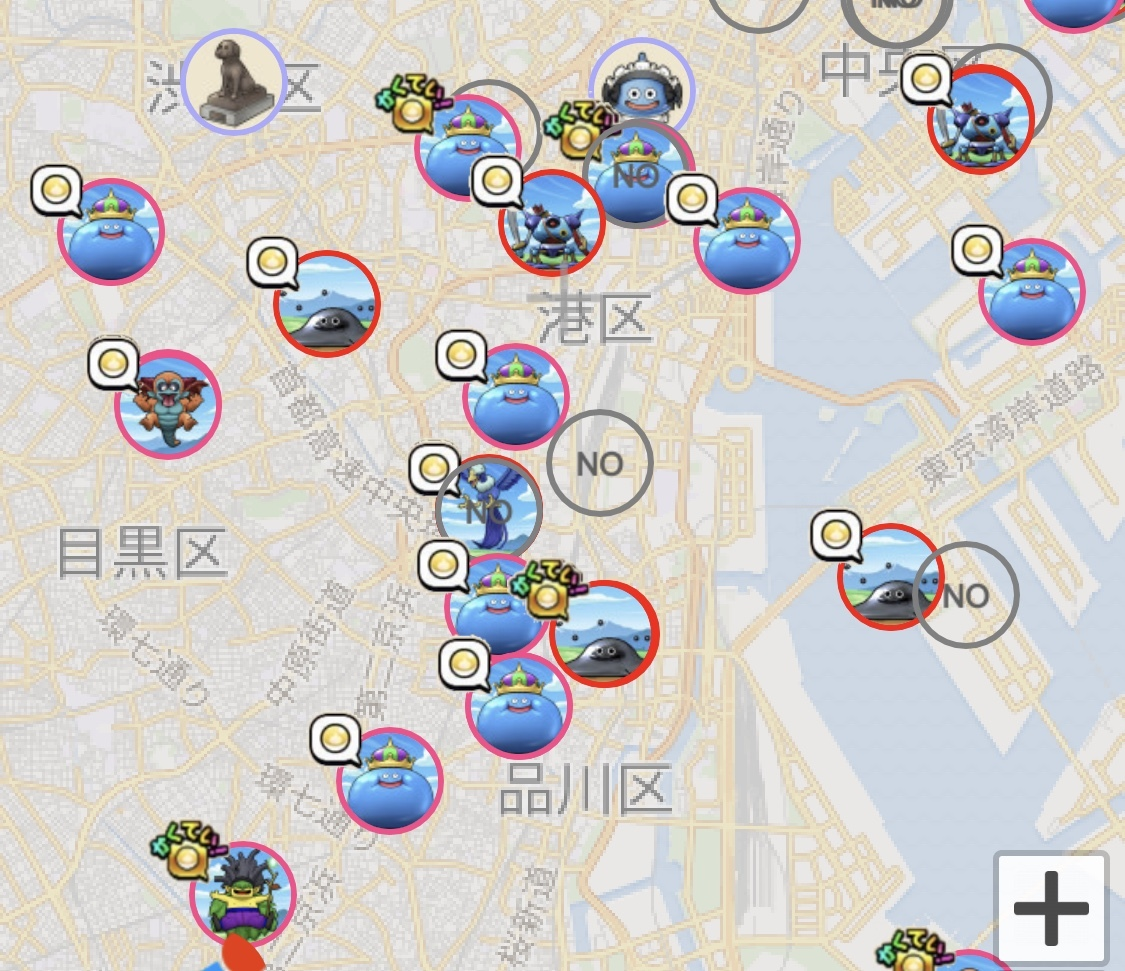 ドラクエウォークこころマップ